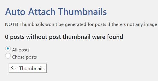 Auto Attach Thumbnails